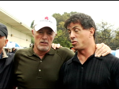drpeter wallstein james caan and sylvester stallone at the elizabeth glaser pediatric aids foundation golf classic at riviera country club in pacific... - elizabeth glaser stock videos & royalty-free footage