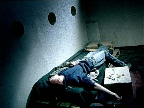 HA, MS, drug addict lying on bed, Ljubjana, Slovenia