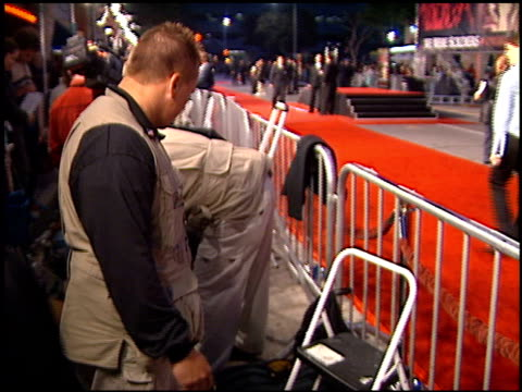drug dog at the 'we were soliders' premiere at the mann village theatre in westwood california on february 22 2002 - レジェンシービレッジシアター点の映像素材/bロール