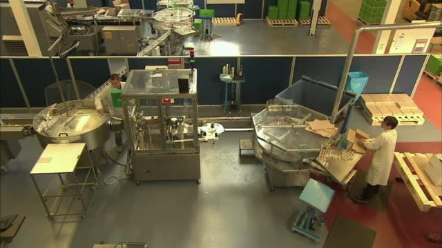 ws ha drug manufacturing plant, boxmeer, netherlands - boxmeer stock videos & royalty-free footage