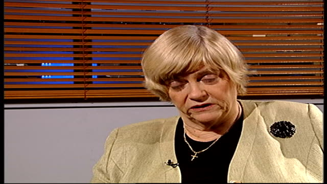 drug-addict prisoners compensated for poor treatment; london: anne widdecombe interview sot - on how it is nonsense to say that a prisoner who comes... - ann widdecombe stock videos & royalty-free footage