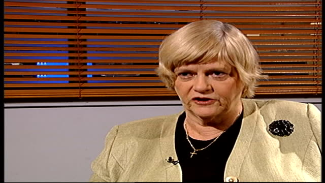 drug-addict prisoners compensated for poor treatment; london: gir: int ann widdecombe mp interview sot - on her disbelief at court settlement - ann widdecombe stock videos & royalty-free footage