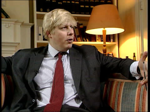 attitudes to cannabis decriminalisation boris johnson interviewed sot i don't think we're quite yet at the national consensus in favour of doing it... - bumpy stock videos & royalty-free footage