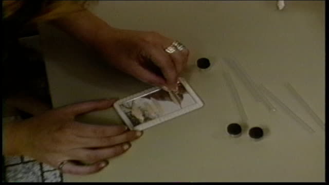 drugs being cut into lines on a mirror for snorting in a bathroom - snorting cocaine stock videos & royalty-free footage