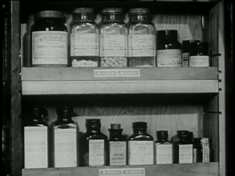 1946 - drugs on pharmacy shelves - pill bottle stock videos & royalty-free footage