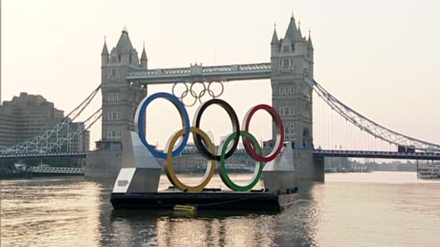 drugs testing ahead of the rio 2016 olympic games 2012 exact date unknown olympic rings on barge in front of tower bridge - olympic rings stock videos & royalty-free footage