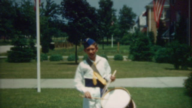 drummer boy 1940's - marching band stock videos & royalty-free footage