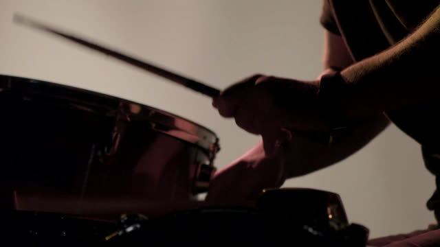 drummer drumming in super slow motion - musician stock videos & royalty-free footage