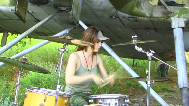 drummer girl - drummer stock videos & royalty-free footage