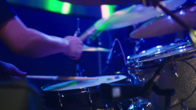 drummer in concert - pop music stock videos & royalty-free footage