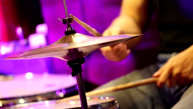 drummer in concert - cymbal stock videos and b-roll footage
