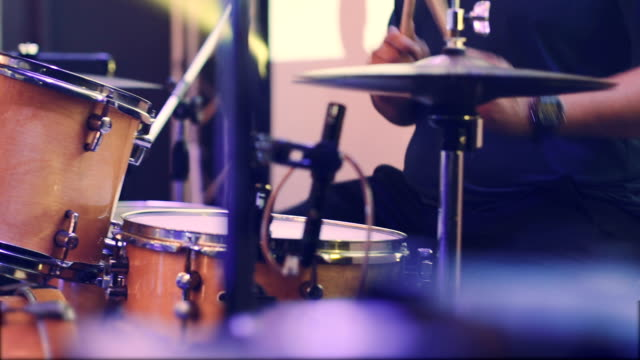 drummer in concert - drum kit stock videos & royalty-free footage