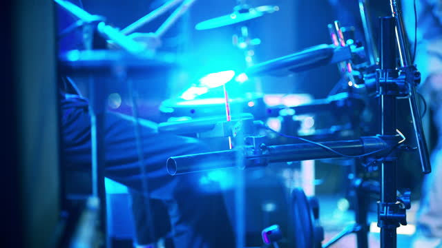 drummer on the stage in concert - stabilized shot stock videos & royalty-free footage