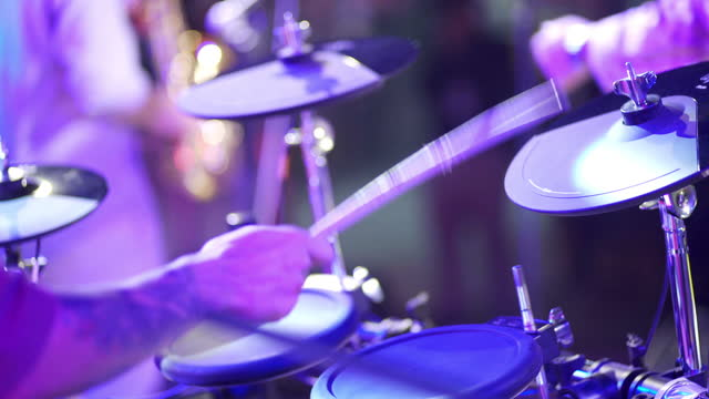 drummer on the stage in concert - rock musician stock videos & royalty-free footage