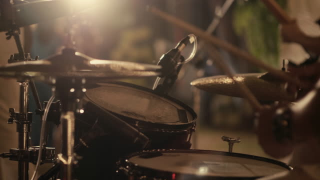 drummer performing on stage - drummer stock videos & royalty-free footage