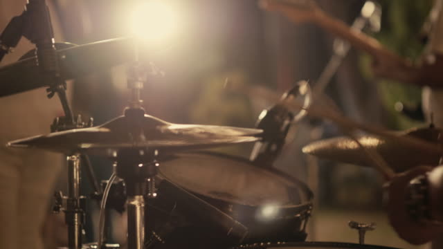 drummer performing on stage - rock musician stock videos & royalty-free footage