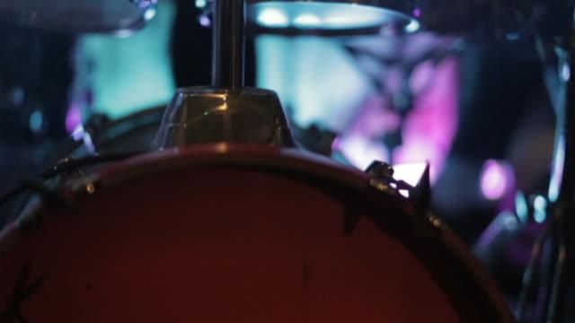 Drummer Playing a Bass Drum
