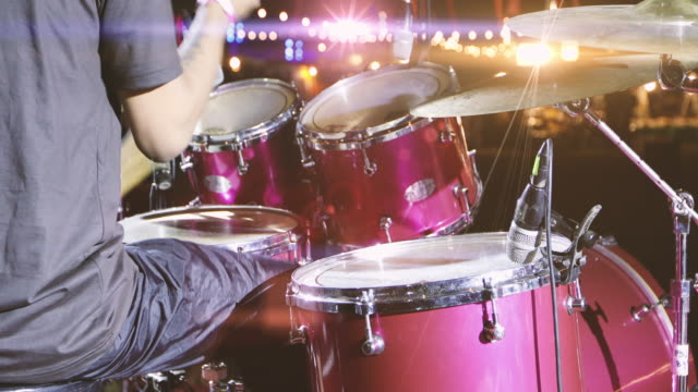 Drummer playing drums Solo In Concert