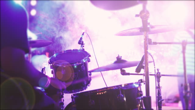 drummer playing drums solo in concert - drummer stock videos & royalty-free footage