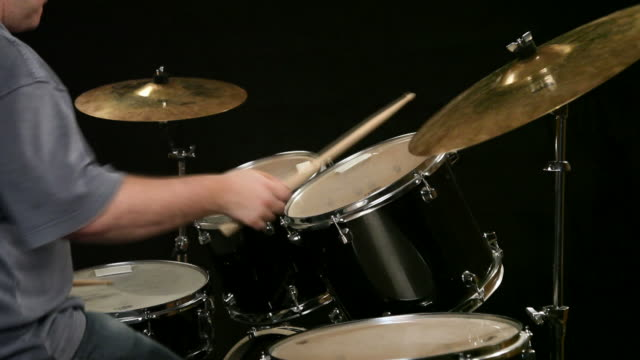 drummer playing drums - cymbal stock videos and b-roll footage