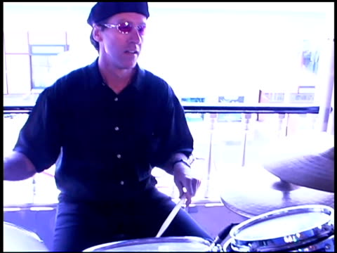 drummer playing music - one young man only stock videos & royalty-free footage