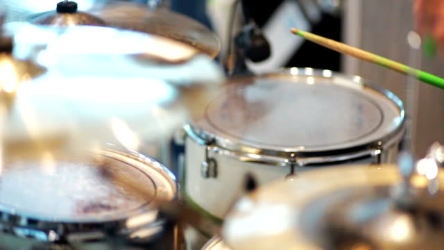 drummer playing on drums. - drum percussion instrument stock videos & royalty-free footage