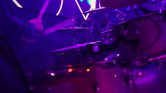 drummer playing - drummer stock videos & royalty-free footage