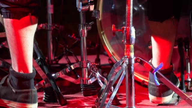 Schlagzeuger Aufnahme moment