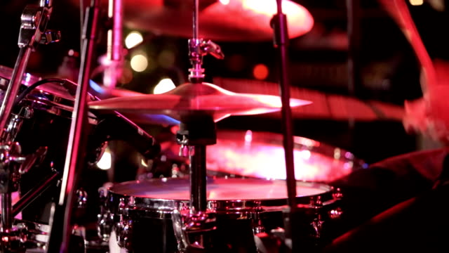 Drummer Taking Solo In Concert