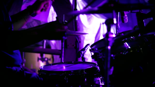 drummer taking solo in concert - drummer stock videos & royalty-free footage
