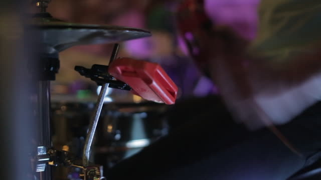 drummer using a tambourine - cymbal stock videos and b-roll footage