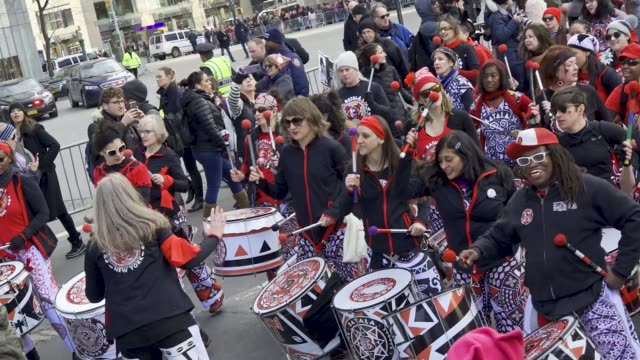 Drummers from the Batala New York an allfemale drum band initiate the 2018 New York City Women's march With the upcoming United States midterm...