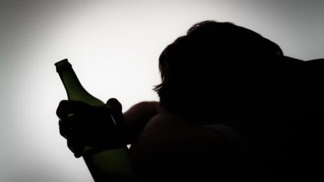 hd: drunk and depressed - vignette stock videos & royalty-free footage