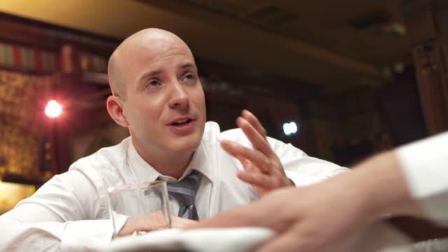 hd: drunk businessman at bar counter - napkin stock videos & royalty-free footage