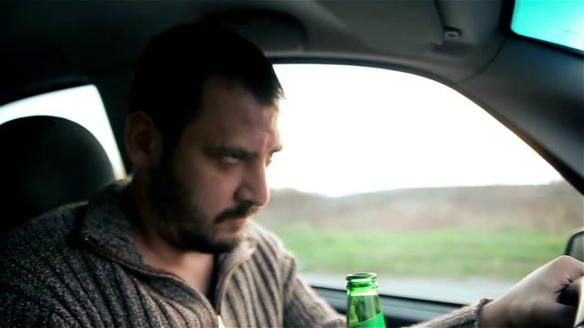 drunk driver, accidents in the announcement - alcohol abuse stock videos & royalty-free footage