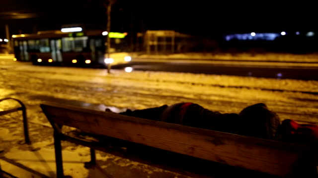 drunk man sleeping by the road - unemployment stock videos and b-roll footage