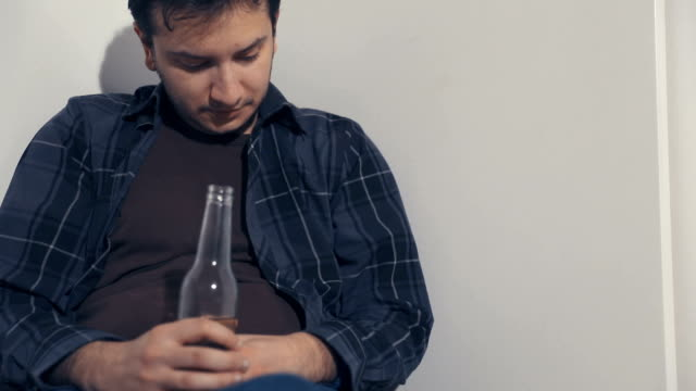 drunk man - alcohol abuse stock videos & royalty-free footage
