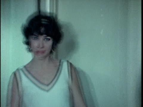 vídeos y material grabado en eventos de stock de 1971 montage drunk woman making scene at dinner party, los angeles, california, usa, audio  - 1971