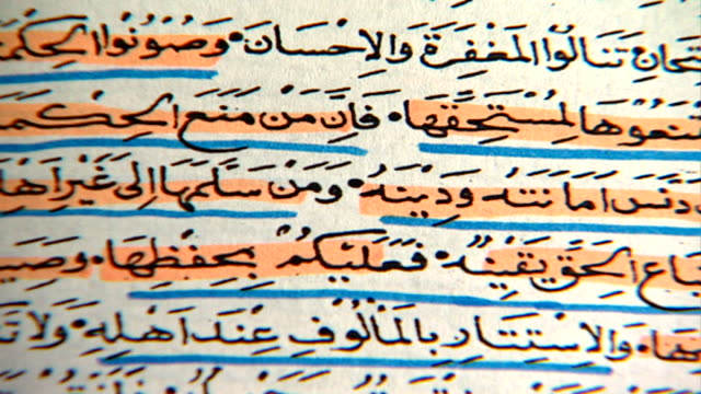 druze epistles of wisdom. pan on text of epistle 33 which states: protect divine knowledge from those who do not deserve it and do not withold it... - theology stock videos & royalty-free footage