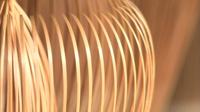 vídeos y material grabado en eventos de stock de dry bamboo tea whisks stand ready for use. - sado