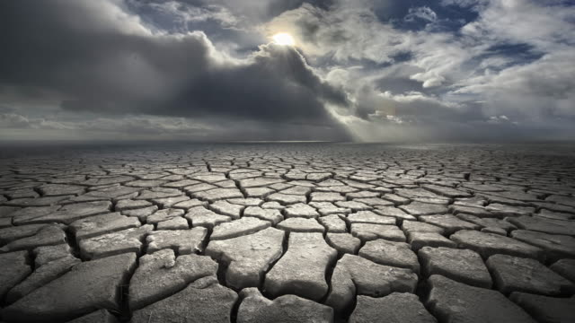 dry, cracked earth during summer storm, california - shower stock videos & royalty-free footage