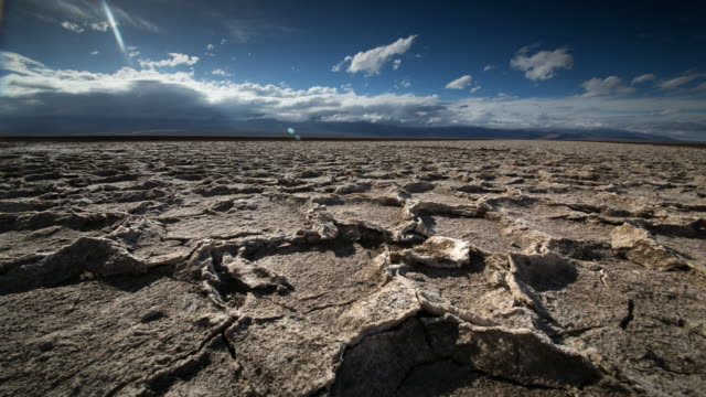dry cracked earth - lake bed stock videos & royalty-free footage