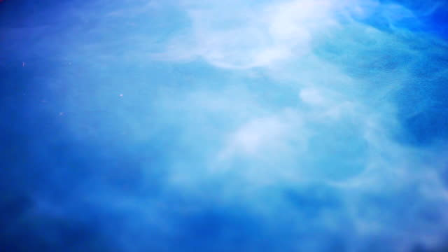 dry ice fog or smoke on blue stage background. - dry ice stock videos & royalty-free footage
