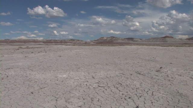 dry lake at painted desert nat pk - lake bed stock videos & royalty-free footage