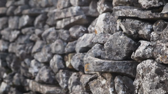 dry stone wall - surrounding wall stock videos & royalty-free footage