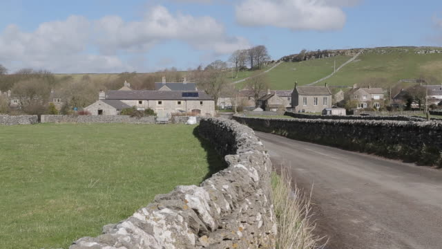 dry stone walls at litton, derbyshire, england, uk, europe - derbyshire stock videos & royalty-free footage