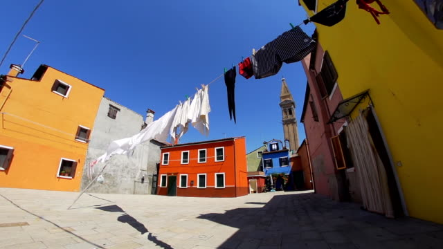 HD DOLLY: Drying Laundry On A Clothesline In Venice