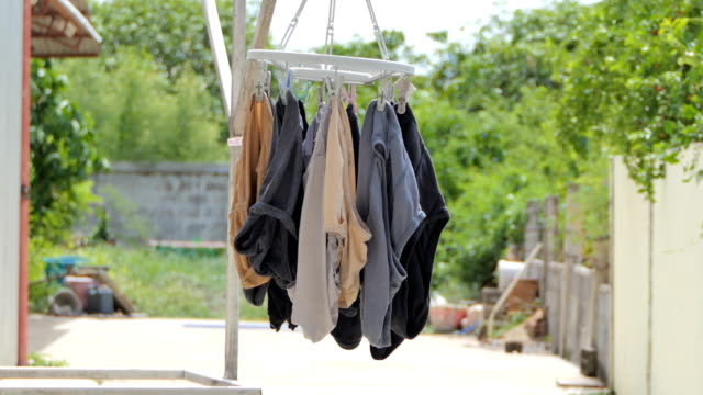 drying underwear on circle cloth drying. - underwear stock videos & royalty-free footage