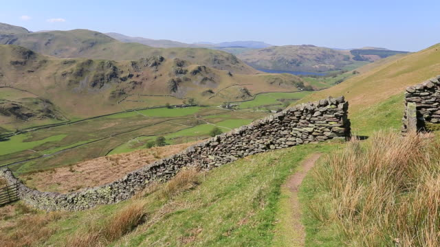 Drystone wall, the Martindale valley, Lake District National Park, Cumbria, England.