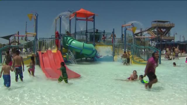 ktla drytown water park in palmdale in june 16 2015 - palmdale stock videos and b-roll footage